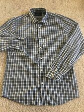 Scotch & Soda Mens Blue and White Plaid Long Sleeve Button Up size XL