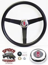 "1969-1977 Cutlass 442 F85 Omega steering wheel OLDS 14 3/4"" VINTAGE BLACK Grant"