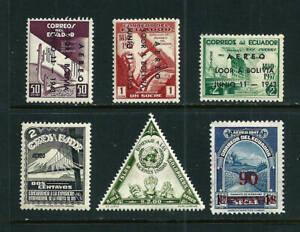 Ecuador Air Post - 6 MH stamps