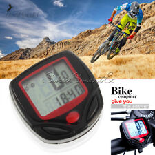 Bike Bicycle Cycling LCD Computer Odometer Speed Speedometer Waterproof ST