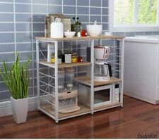 KITCHEN MICROWAVE STAND SHELF CUPBOARD ORGANIZER STORAGE TROLLEY BUFFET TABLE