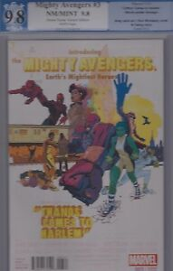 Mighty Avengers 3 Variant Cover PGX 9.8 Marvel 01/14 (Not CGC, CBCS)