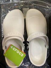 Crocs Bistro White Roomy Fit 10075-100 Size Mens 11 Unisex Brand New