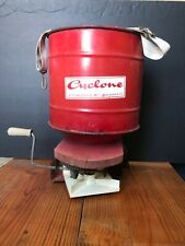 Vintage Cyclone Hand Crank Seeder Rotary Red Seed Spreader Indiana
