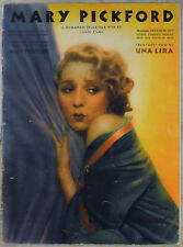 MARY PICKFORD - SUPPLEMENTO MENSILE DI CINEMA ILLUSTRAZIONE NOVEMBRE 1933
