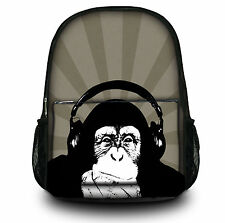 Rucksack/backpack for School Work Sports College- Funky Collection, etc (Monkey)