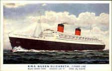 Schiffe Echtfoto-AK Schiffsfoto ~1960 Schiff Dampfer Steamer RMS Queen Elizabeth