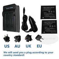 2pk Battery DMW-BCK7+charger for Panasonic Lumix DMC-S1W NCA-YN101H Camera