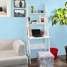 Sobuy table bureau Bibliothèque Étagère Style Échelle de 3 tablettes Frg60-w FR