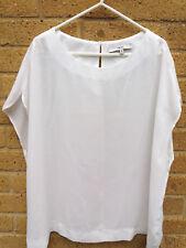Women's NEXT White Sleeveless Blouse Size 18 Boxy Cut Career / Work