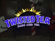 "Twisted Tea Hard Iced Tea Led Opti Neon Logo Beer Sign 26""X14"" -new"