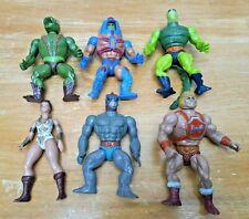 Vintage MOTU Action Figure Lot of 6 Masters Of The Universe Mattel 1980?s He-Man