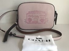NWT!!Coach x Keith Haring Boombox Camera Bag Crossbody In Ice Pink  $275