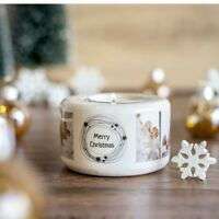 PERSONALISED CUSTOM PRINTED CANDLE HOLDER WITH YOUR PHOTO IMAGE AND TEXT
