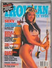 IronMan Bodybuilding muscle magazine Debbie Halo /w/poster Swimsuits 4-95