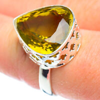 Large Lemon Quartz 925 Sterling Silver Ring Size 8.5 Ana Co Jewelry R52168F