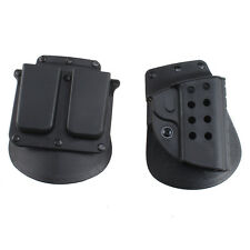 Quick Tactical Right Hand Holster Magazine Pouch for Colt 1911 Pistol Airsoft Bk