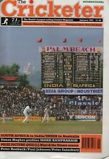 THE CRICKETER INTERNATIONAL MAGAZINE 1992 - ALL ISSUES COMPLETE EXCEPT AUG/DEC.