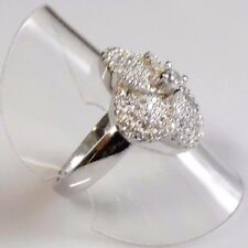 Micro Pave Saphir Cocktail Designer Ring 925er Sterlingsilber 61 (19,4 mm Ø)