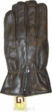 Men's Leather Gloves, XXL Zip up Men's Gloves, Winter Gloves, lined warm Gloves