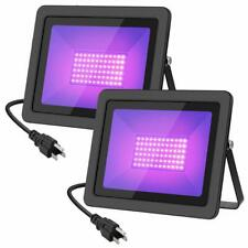 WELKEY PLUS 2 Pack 80W UV LED Black Light Flood Light with Plug(6ft Cable), IP66