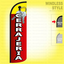 Cerrajeria Windless Swooper Flag 3x11.5 ft Feather Banner Sign rq54