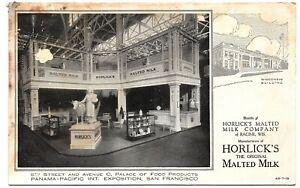 Horlick's Malted Milk PPIE San Francisco Vintage Postcard Wisconsin Building