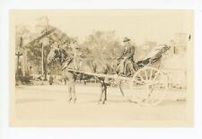 Caleche RPPC Quebec City—Rare Antique Horse Carriage Photo WB Edwards 1920s