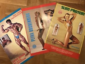 VINTAGE POSTER ADVERTISING BODYBUILDING AND NUTRITIONAL SUPPLEMENTS FOR ATHLETES
