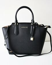 MICHAEL KORS TASCHE/BAG HAYES LG NS TOTE Leather Leder black gold