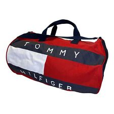 Tommy Hilfiger 90's Vintage Tommy Jeans Spell out Duffel Gym Bag Red