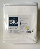 KING Sheet Set 4 Piece The Big One East Care 275 TC Deep Pocket WHITE Kohls