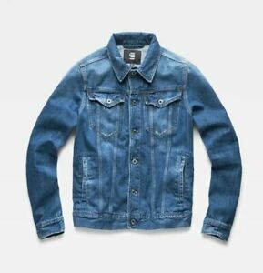 NEW G-Star Raw 3301 Slim Blue Sato Denim Jean Jacket  Sizes M L XL XXL