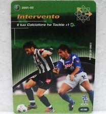 FOOTBALL CHAMPIONS Italiano 2001-02 - INTERVENTO - carta azione 47/80 DEL PIERO