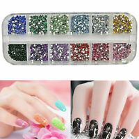 3000 3D NAIL ART RHINESTONES DECORATION GLITTER ACRYLIC GEMS AB CRYSTAL DIAMANTE