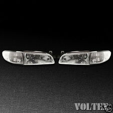 1997-2003 Pontiac Grand Prix Headlight Lamp Pair of 2 Amber Reflector Halogen