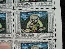1968 SHARJAH 40 Dirham Stamps VALUE $65 Beethoven Dubai United Arab Emirates UAE