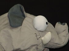 CRAZY BUG EYES TOO MUCH CAFFEINE GRAY ELEPHANT BABY PLUSH STUFFED ANIMAL WILD