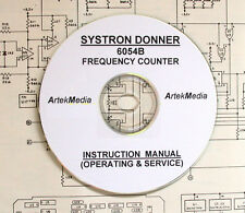 SYSTRON DONNER 6054B  Instruction (OPERATING & SERVICE) Manual