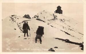 RPPC FOREST SERVICE LOOKOUT SUMMIT OF MT. HOOD OREGON REAL PHOTO POSTCARD 1930s