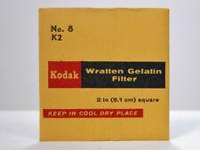 """Kodak WRATTEN #8 K2 FILTER GEL 2X2"""" Yellow Filter For Black and White Film"""