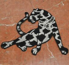 "Jaguar Leopard Panther Jeweled Cat Embroidered Iron On Patch Applique 4"" X 5"""