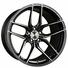 """4ea 18"""" Staggered Stance Wheels SF03 Gloss Black Tinted Machined Rims (S5)"""