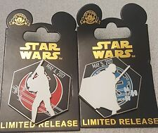 Disney Parks 2017 STAR WARS DAY pins:May 4th Luke, May 5th Vader Limited Release