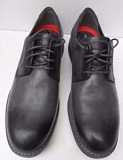 Mens Rockport Trutech Black and Grey Leather Smart Lace Up Shoes- Size UK 7.5