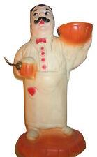 Vintage Hard Plastic Rubber Waiter Holder Beer Man toy figure Antique Server