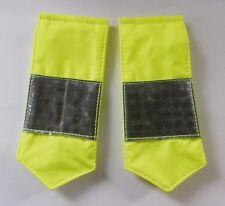 Hi Vis Viz Visibility Reflective Security Police Coat Epaulettes Sliders K2/E2