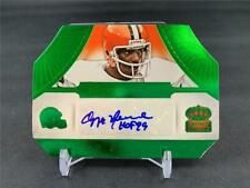 2014 PANINI CROWN ROYALE OZZIE NEWSOME HOF AUTO GREEN 3/5 BROWNS