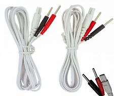 SET OF 2 TENS ELECTRODE LEAD WIRES  FOR NEUROTRAC TENS MACHINES ESTIM ONE PAIR