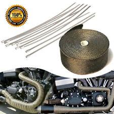 15m Titanium Heat Wrap Exhaust Manifold Black Insulating Tape 10 Cable Ties 30cm
